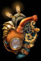 Steampunk Anatomically Correct Heart