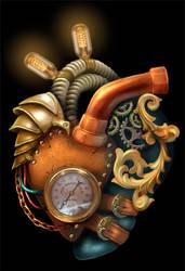 Steampunk Anatomically Correct Heart