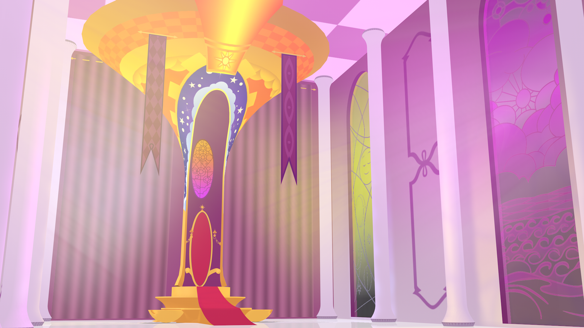 Celestia's Throne Room 3D WIP by DevolutionEX