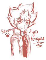 zyro kurogane sketch by La-mapache-de-rakel