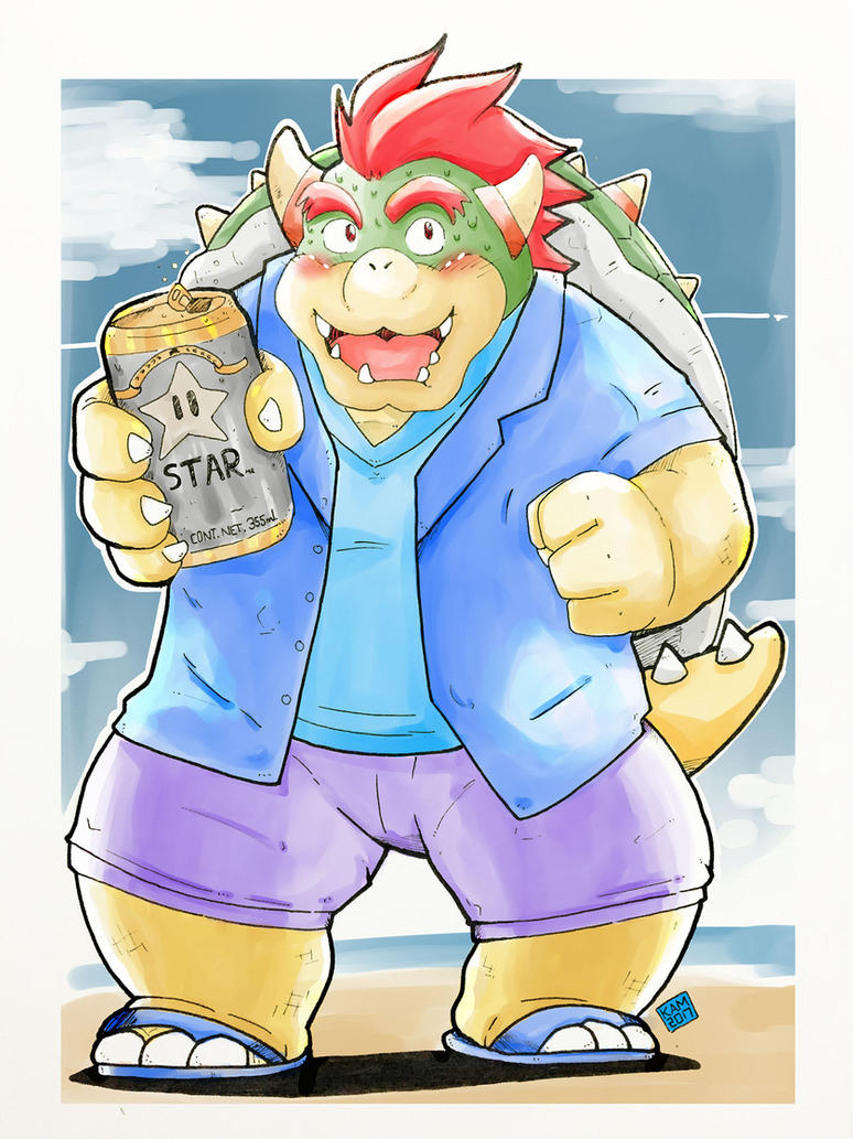 Bowser Beer (Color Ver.) by Kamui270