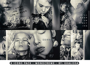 Monocrome icons by Koo-chan
