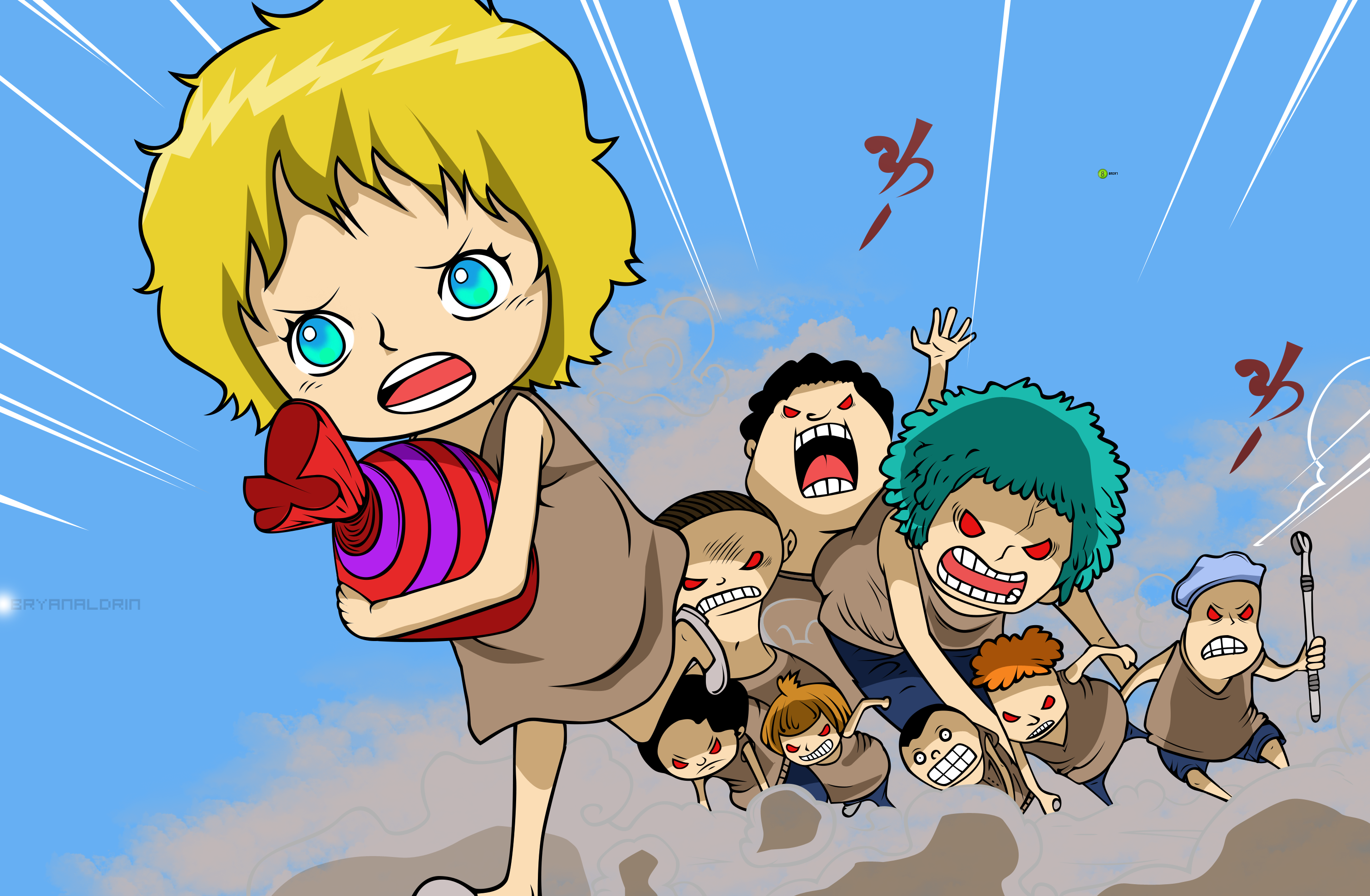 Giant Kids of Punk Hazard by bryanaldrin