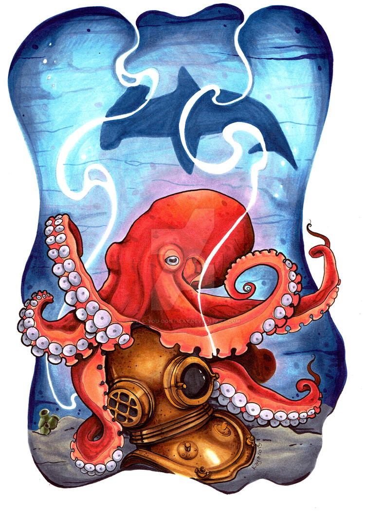 The Giant Pacific Octopus by well-you-dont-say on DeviantArt