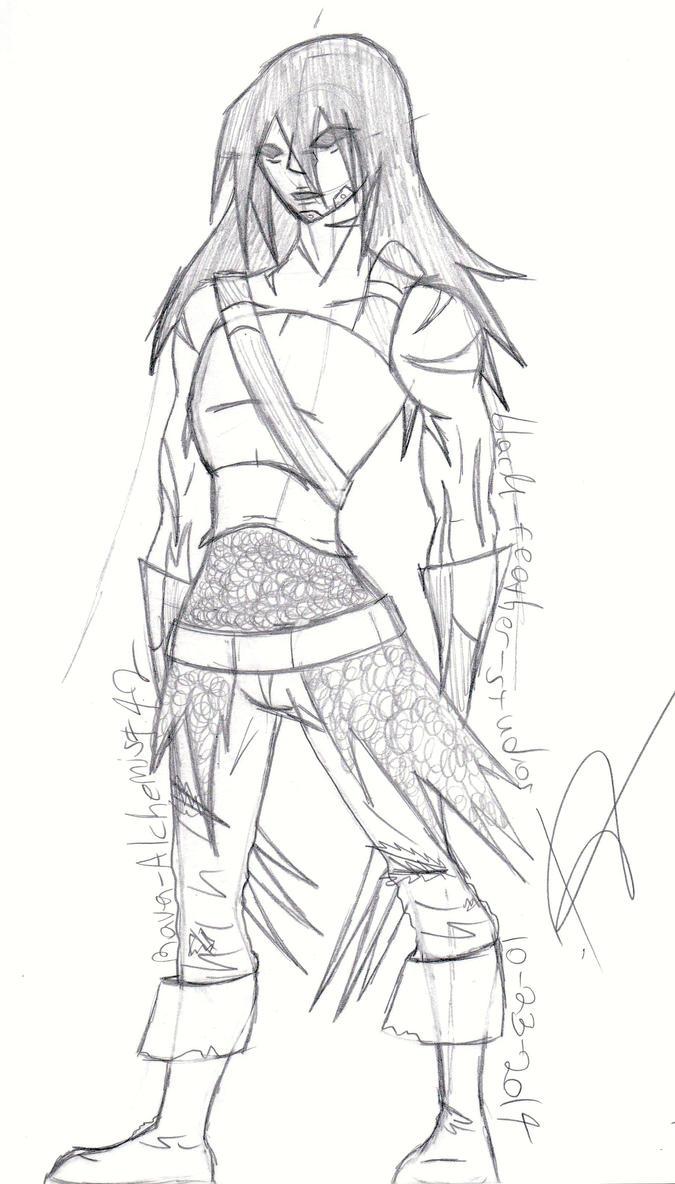 Forgotten Warrior - Commission Sk. - Dameon by Raven-Alchemist42