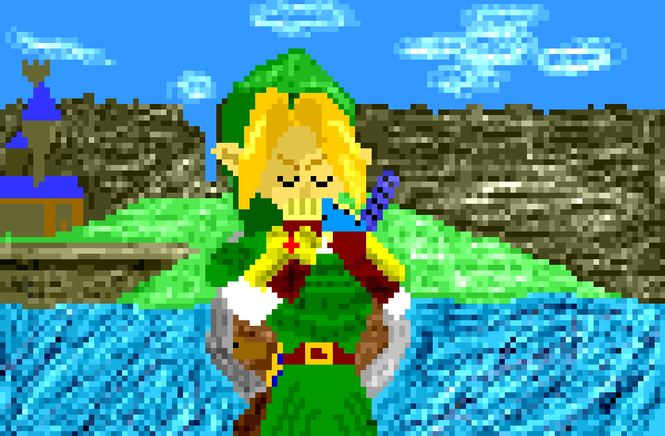 Ocarina Of Time Pixel Art By Zigzagvg On Deviantart