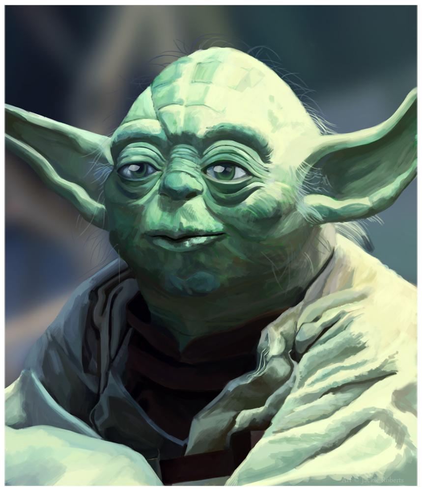 Yoda Painting by Ius-Iuris
