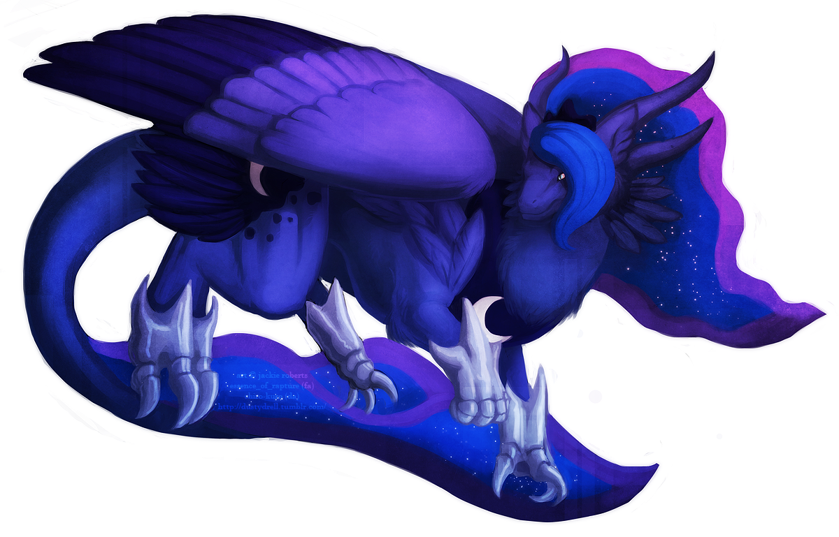 Luna Dragon by Essence-Of-Rapture