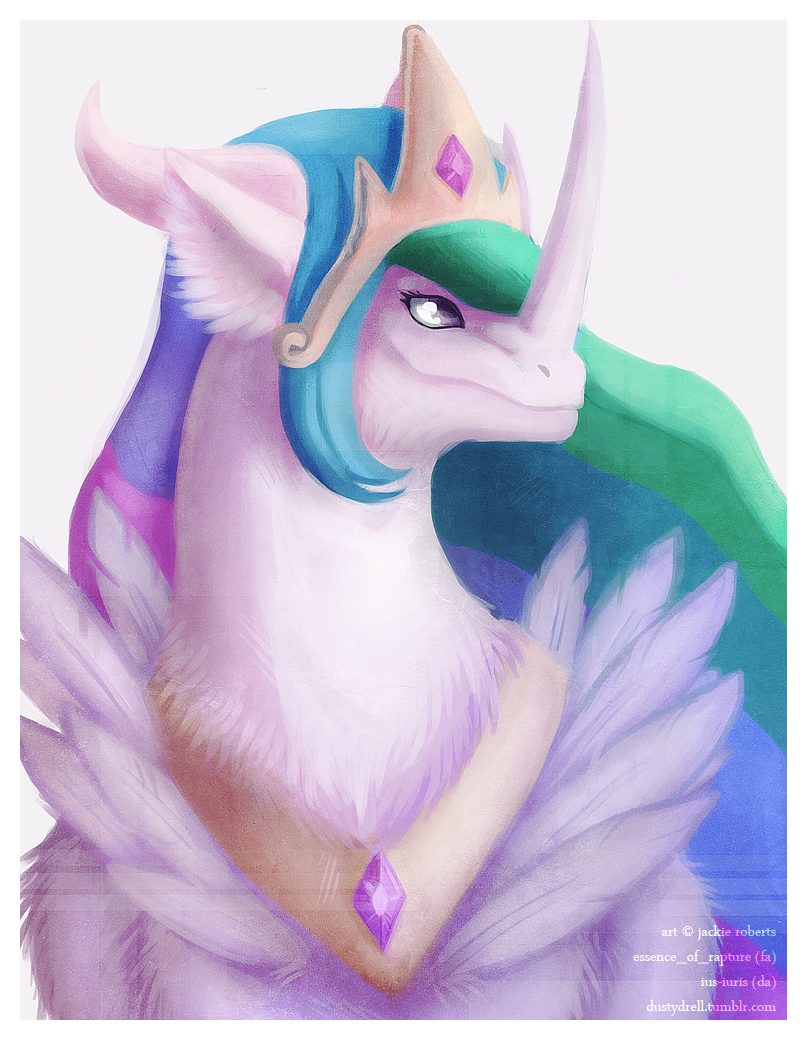 Princess Celestia Dragon by Essence-Of-Rapture
