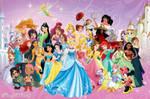 Disney Princesses and Heroines Wallpaper