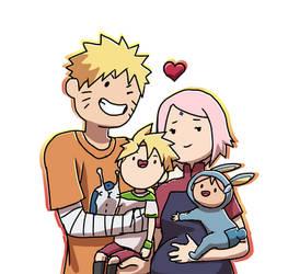 Narusaku family by BorutoxShinachiku