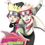 Boruto and Shinachiku rasengan