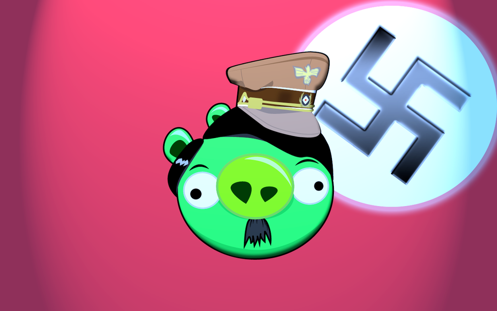 Angry Birds King Pig Hitler By Alexalexart On DeviantArt