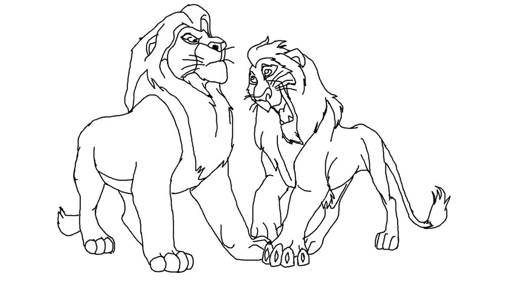 The lion king scar and mufasa base by lionkingadopts on for Lion king scar coloring pages