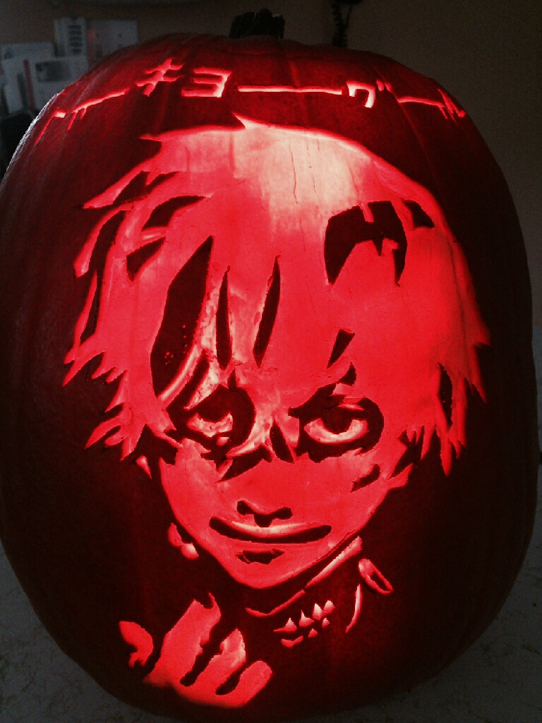 Tokyo ghoul pumpkin by tsukiyamas on deviantart