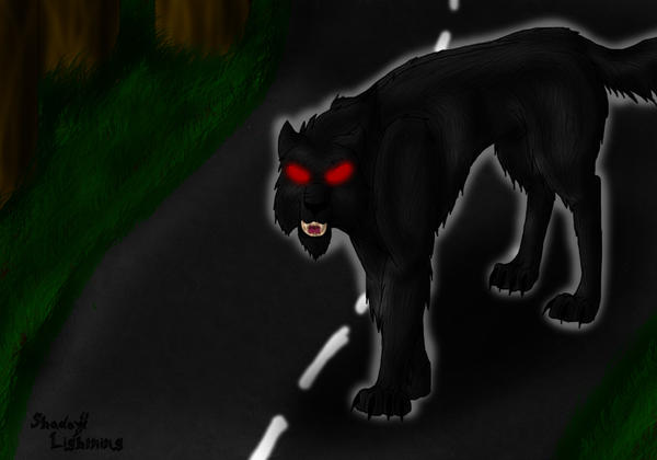 the demon dog of dover by Shadow-lightning