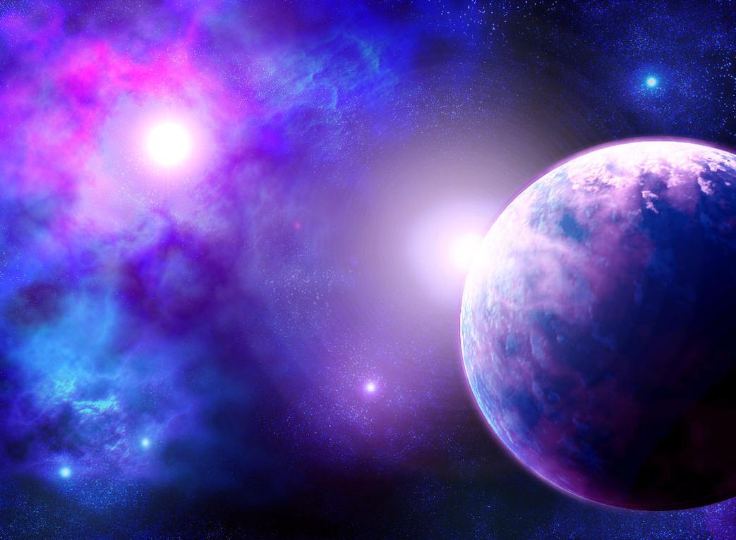 planet and nebula by vissroid on DeviantArt