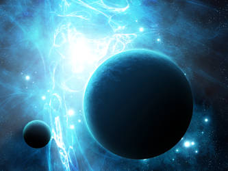 Blue nebula by vissroid
