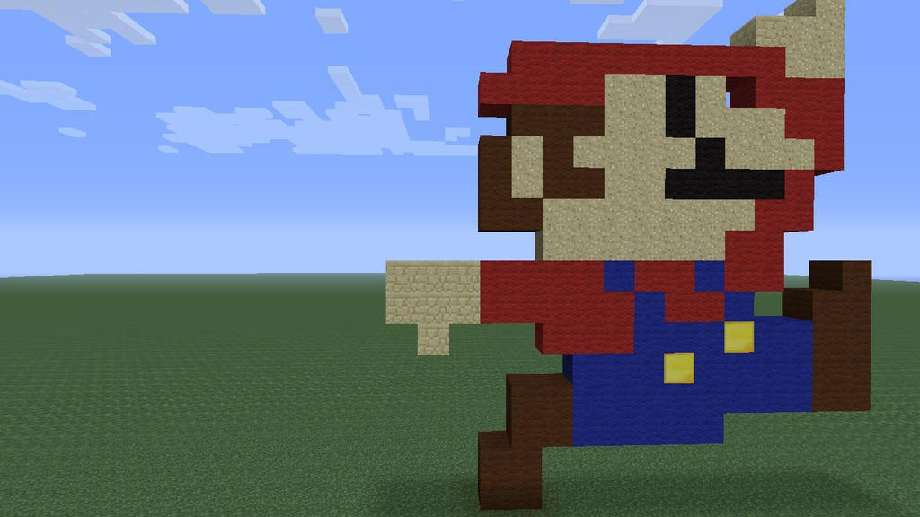 MineCraft Pixel Art Super Mario Ver 1 By Newcastlemhull ...