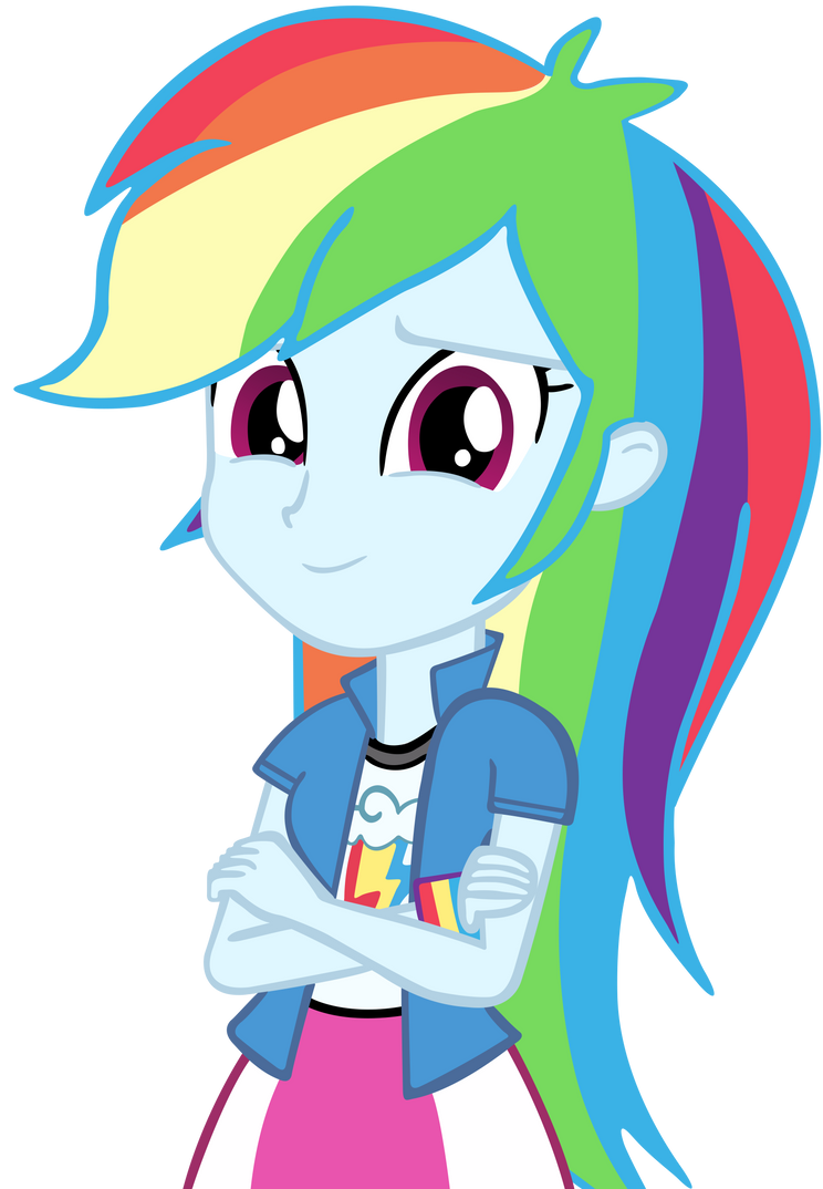 Human Rainbow Dash Vector by cool77778 on DeviantArt
