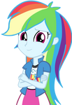Human Rainbow Dash Vector
