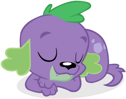 Sleeping Dog Spike Vector by cool77778