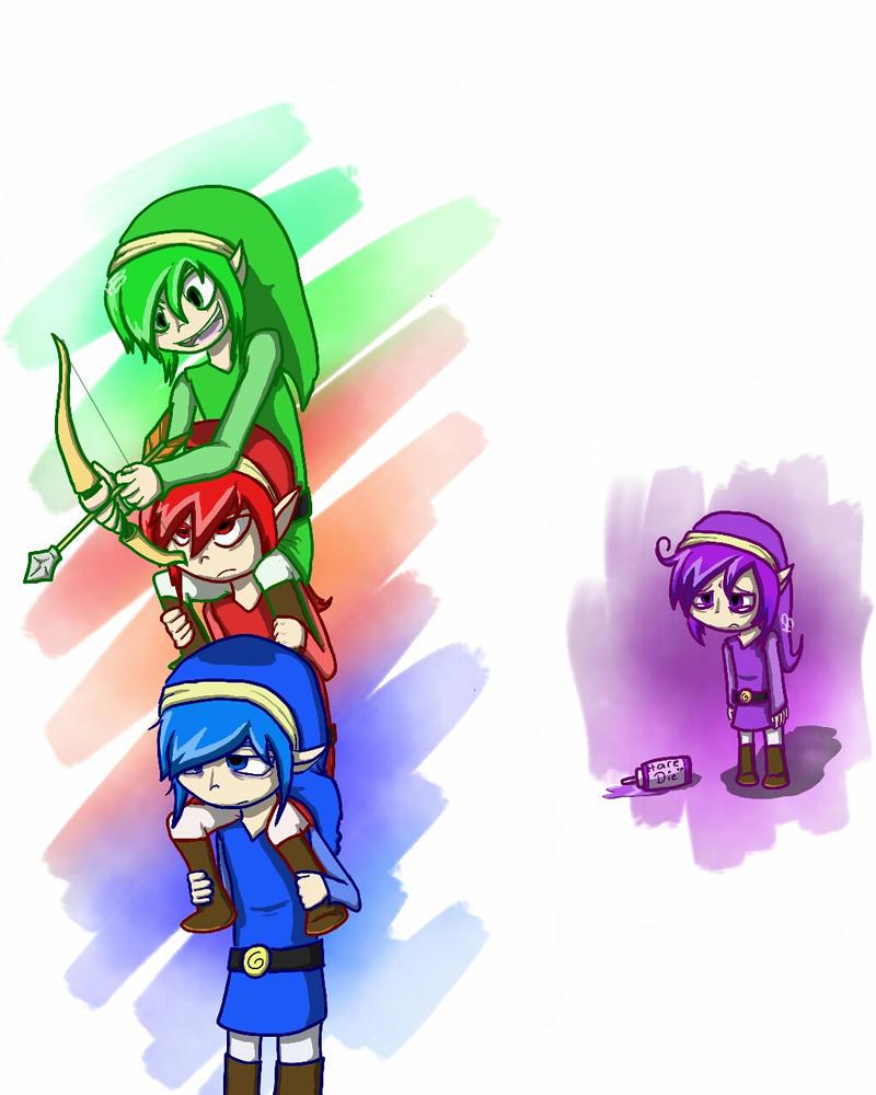 The Legend Of Zelda Triforce Heros By Burgerhat On Deviantart