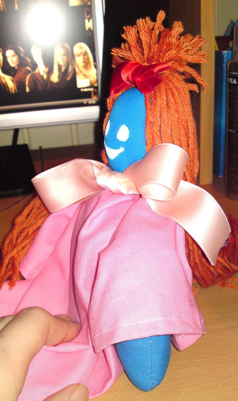 Emily doll side view by SsBrownie