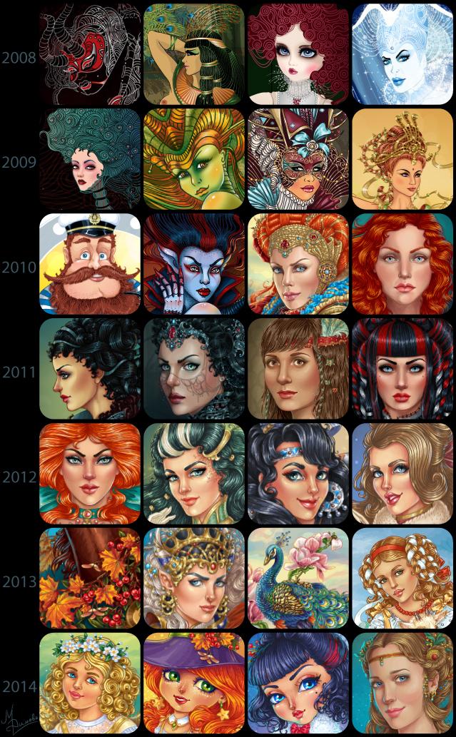 Art summary (7-year progress in vector) by dimary