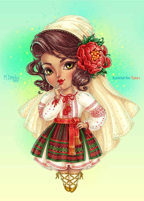 Cute Moldovan Chibi by dimary