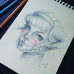 Daily sketch: Warrior girl