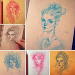 Sketchbook: pencil sketches