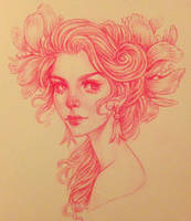 Daily Sketch: Flower girl by dimary
