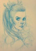 Daily Sketch: Princess by dimary