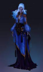Commission: Dark Elf Sorceress
