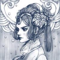 Grey Rain by dimary