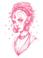 Daily Sketch: Elven Witch