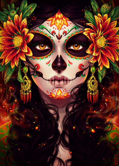 commission dia de muertos by dimary on deviantart. Black Bedroom Furniture Sets. Home Design Ideas