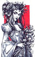 Inktober: Demon Princess by dimary