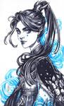 Inktober: Blue Witch