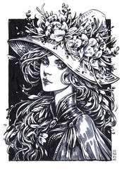Inktober: Spring Witch by dimary