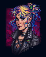 Commission: Punk-rock girl by dimary