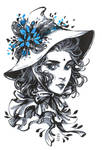 Inktober: Mandrake Witch