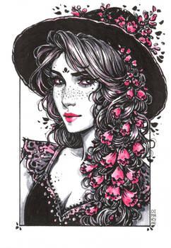 Inktober: Foxglove Witch