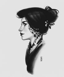 Ink Lady by dimary