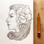 Daily sketch: Art Nouveau girl 2 by dimary
