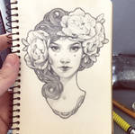 Daily sketch: Art Nouveau girl 3 by dimary