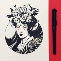Inktober2019: Image of Maiden: Asian Beauty