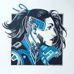 Ink Cyberpunk girl