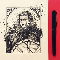 Inktober2019: Image of Maiden: Shield-maiden